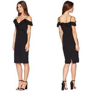 Bardot Raene Frill Neckline Sheat FRIL DRESS 6